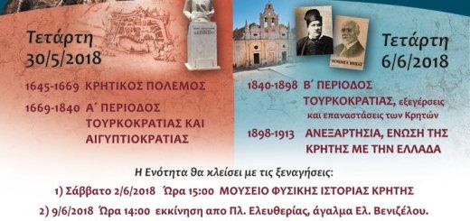 Ξενάγηση στο Κρητικό Παρελθόν, Πολιτισμοί – Ιστορία