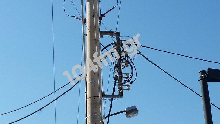 Διακοπή του ηλεκτρικού ρεύματος από Βαϊνιά έως Καβούσι
