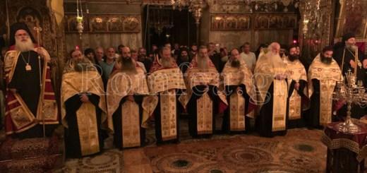 Ο Σεβ. Μητροπολίτης Ιεραπύτνης και Σητείας στην πανήγυρη της Ιεράς Μονής Ιβήρων στο Άγιον Όρος