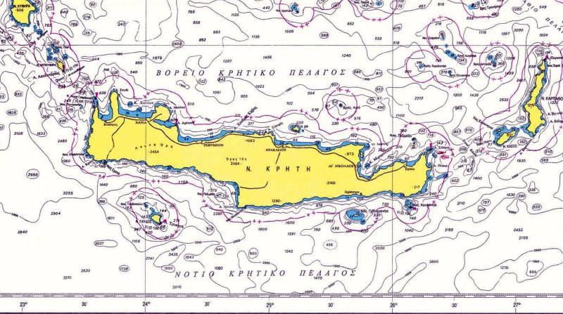 Γεωγραφικοί χαρακτηρισμοί θαλάσσιων περιοχών νήσου Κρήτη