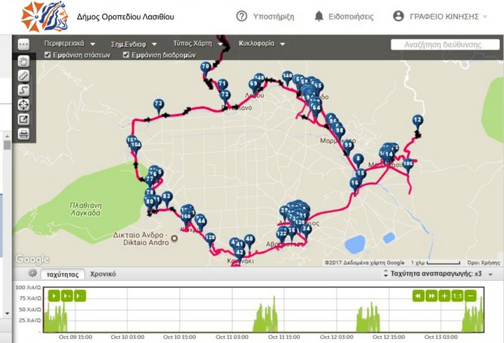 Σύστημα GPS στα οχήματα του εγκατέστησε ο Δήμος Οροπεδίου Λασιθίου