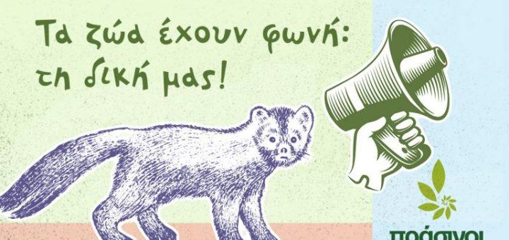 Τα ζώα έχουν φωνή: τη δική μας! Παγκόσμια ημέρα των ζώων