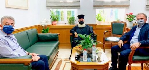 Συνάντηση Περιφερειάρχη Κρήτης με τον Δήμαρχο Ιεράπετρας και τον Μητροπολίτη Ιεραπύτνης και Σητείας