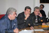 από αριστερά οι κύριοι, Ψυλάκης, Βαρκαράκης, Κυριακάκης