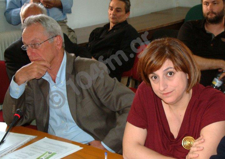 ο υφυπουργός Παναγιώτης Σγουρίδης με την αντιπεριφεριάρχη Πελαγία Πετράκη