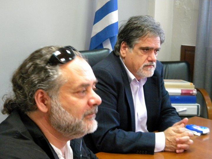 με τον δήμαρχο Αγίου Νικολάου, Αντώνη Ζερβό
