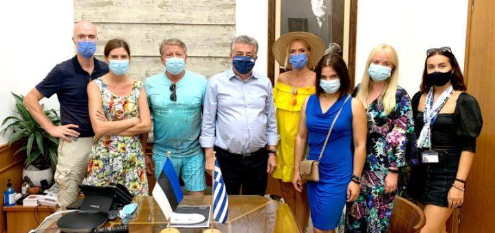 Επίσκεψη Εσθονών δημοσιογράφων στον Περιφερειάρχη Κρήτης