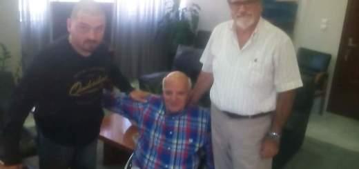 ο Γιώργος Φουντουλάκης στον δήμαρχο Αγίου Νικολάου