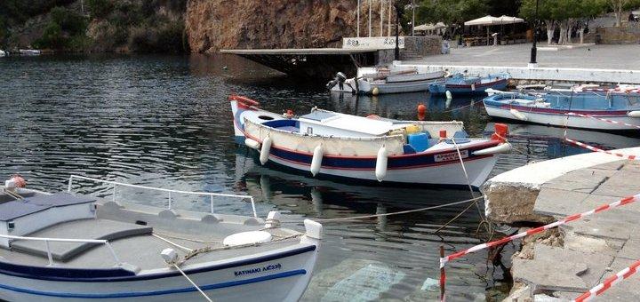 Η διάβρωση στο Ν.Α. κρηπίδωμα της Λίμνης Αγίου Νικολάου Κρήτης
