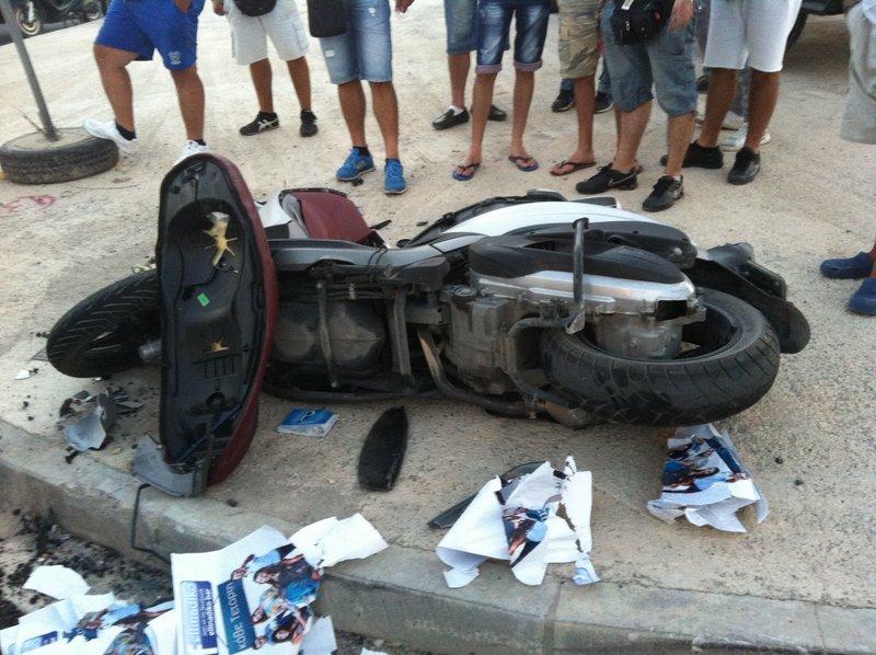η μηχανή μετά το ατύχημα