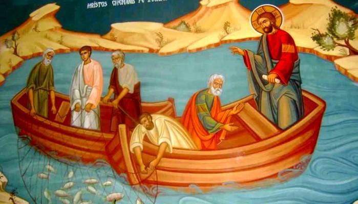 κάλεσμα απ' το Χριστό των ψαράδων να γίνουν «αλιείς ανθρώπων», προκειμένου να τους οδηγήσουν στη σωτηρία