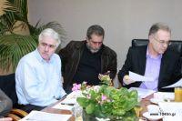 ο Περιφερειάρχης με τον Δήμαρχο και τον αντιδήμαρχο κ. Λασηθιωτάκη
