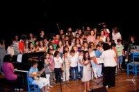 η χορωδία του Ωδείου Τέχνης, επί το έργον