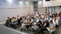 το ακροατήριο ήταν κυρίως μέλη του τεχνικού κόσμου της Κρήτης