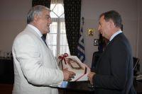 Ο κ. Τσόκας με τον Ιταλό Πρέσβη