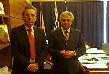 Ο Νομάρχης Λασιθίου με τον Υφυπουργό κ. Καρχιμάκη