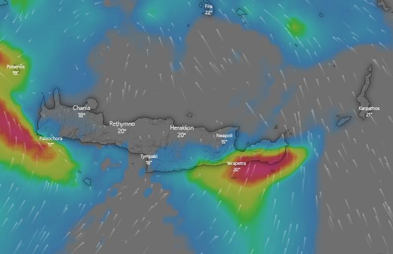 έντονα καιρικά φαινόμενα στην Κρήτη Τετάρτη 28 Οκτωβρίου έως πρωινές ώρες της Πέμπτης