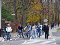 Ποδηλάτες και πεζοί