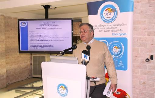 Ο πρόεδρος του Οργανισμού, Κώστας Γιαννόπουλος
