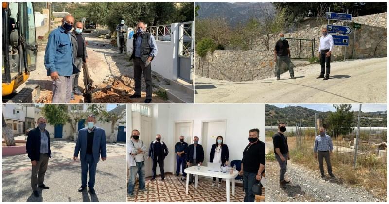 Επίσκεψη του δημάρχου Ιεράπετρας στις κοινότητες Σχινοκαψάλων, Καβουσίου, Μύθων, Μύρτους και Χριστού