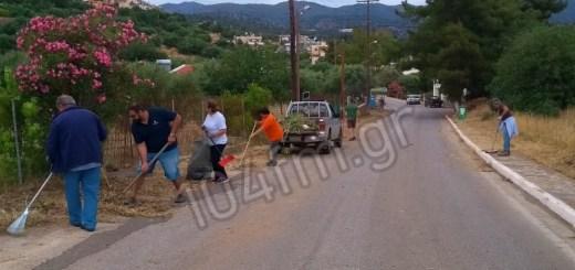 Εθελοντικός καθαρισμός στη κοινότητα Έξω Λακωνίων