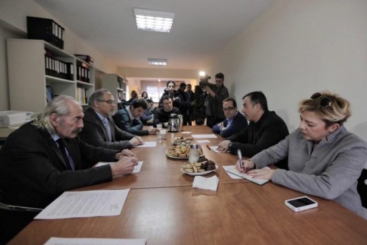 Με τον πρόεδρο και μέλη του Διοικητικού Συμβουλίου της Ένωσης Οινοπαραγωγών του Αμπελώνα της Βορείου Ελλάδος συναντήθηκε το πρωί της Κυριακής ο Σταύρος Θεοδωράκης