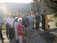 από την εκδήλωση, στο κέντρο ο Φοίβος Ιωαννίδης με τον Δήμαρχο Θεοδόση Καλαντζάκη