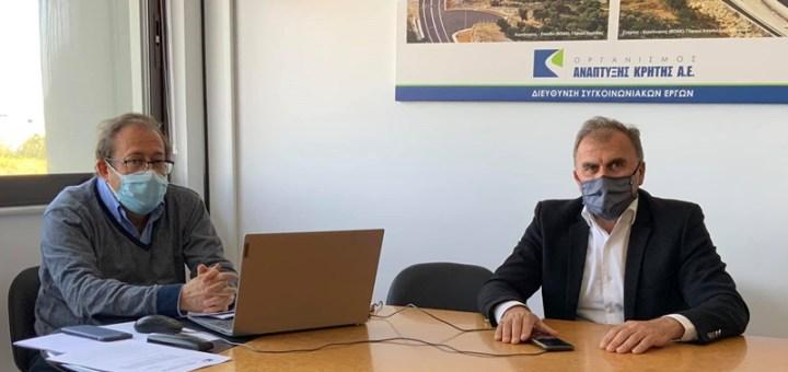Συνάντηση δημάρχου Ιεράπετρας με τον Δ/ντη συγκοινωνιακών έργων του ΟΑΚ