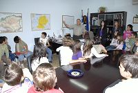 Ο Δήμαρχος με τους μαθητές