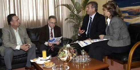 Βεληβασάκης, Κουνενάκης, Κλώντζας, Βαρκαράκη κατά τη συνάντηση στο Δημαρχείο Αγίου Νικολάου