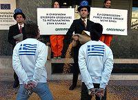 Από διαδήλωση ενάντια στα μεταλλαγμένα