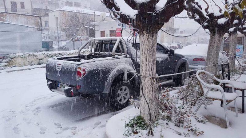 Χιονιάς, η κατάσταση στο οδικό δίκτυο της Κρήτης
