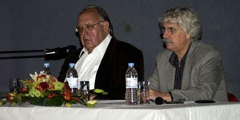 Θεόδωρος Πάγκαλος, με τον αντιδήμαρχο Σπύρο Τσικαλουδάκη