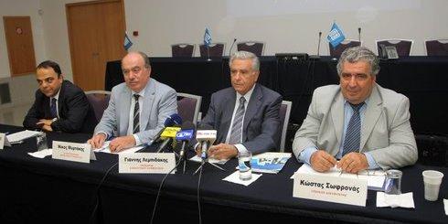 από τη συνέντευξη, από αριστερά, Μαστοράκης, Μυρτάκης, Λεμπιδάκης, Σωφρονάς