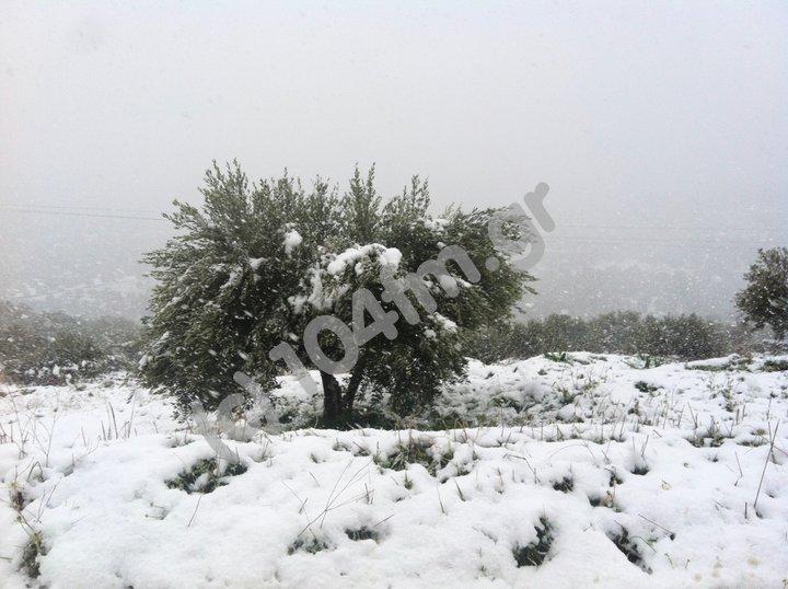 χιονισμένο τοπίο στη Πρίνα