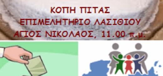 Πίτα Συλλόγου Τριτέκνων, εκλογές