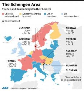 πώς διαμορφώνεται η προς διάλυση πλέον ζώνη Σένγκεν