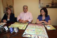 από τη παρουσίαση, ο γενικός γραμματέας της Περιφέρειας και οι κυρίες Ζαμπετάκη και Κουτεντάκη