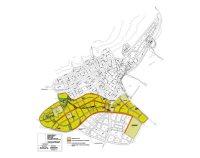 το σχέδιο της περιοχής της πόλης της Σητείας για την οποία κατατέθηκε η μελέτη