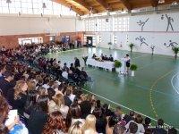 παρόντες, φοιτητές, γονείς, φίλοι και η ηγεσία του Τ.Ε.Ι. Κρήτης