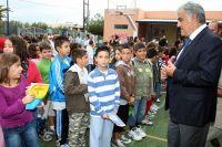 ο Γενικός Γραμματέας της Περιφέρειας με τους μαθητές