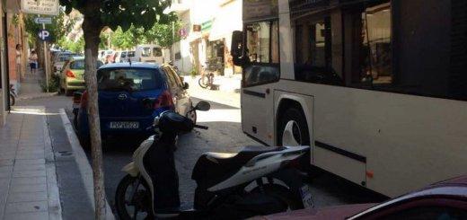 Όταν το στραβό παρκάρισμα διορθώνουν τα μπράτσα