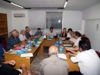 το νέο Διοικητικό Συμβούλιο στη συνεδρίαση της Πέμπτης