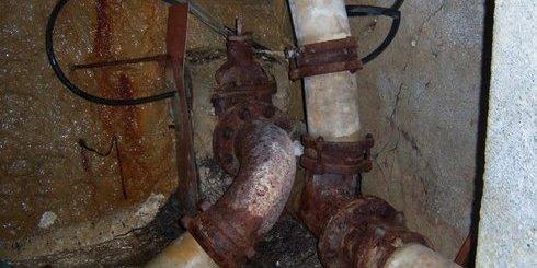 ένα τμήμα του υδραγωγείου