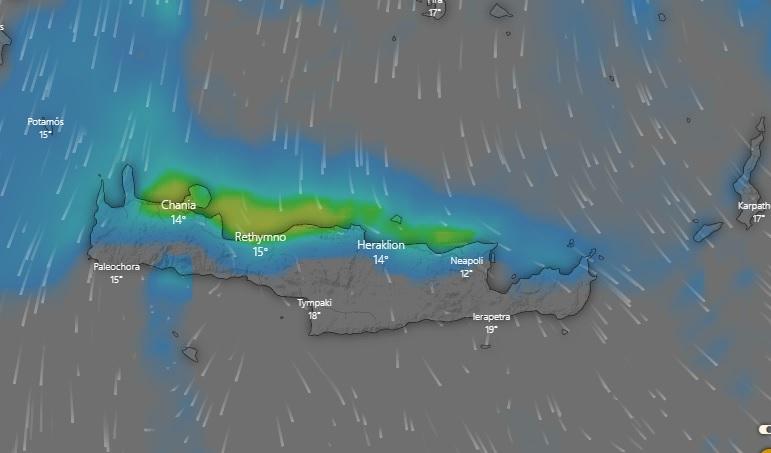 Επιδείνωση του Καιρού στην Κρήτη από αύριο Πέμπτη 9 Νοεμβρίου 2020 έως και το μεσημέρι της Παρασκευής 20 Νοεμβρίου