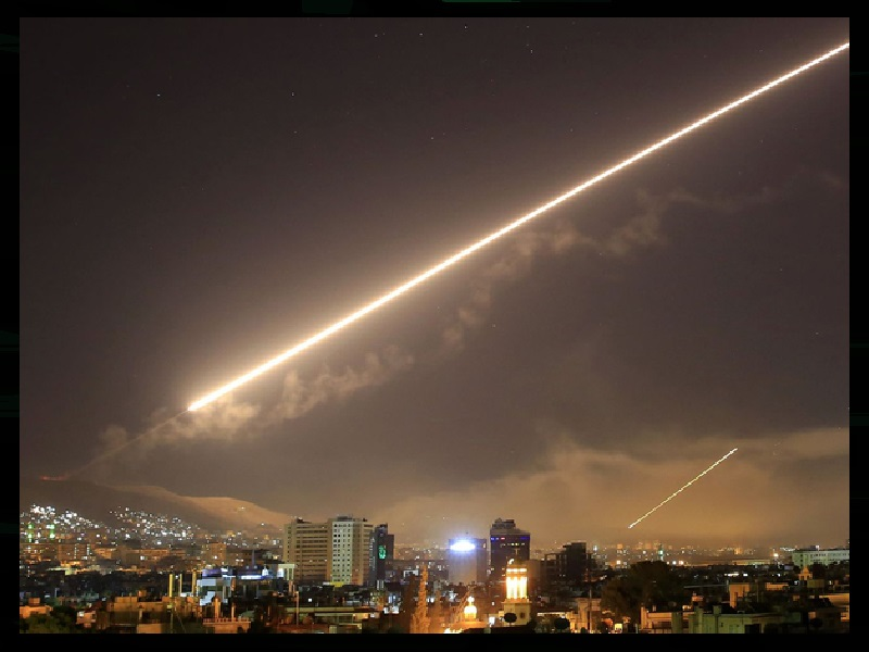 Ordered Missile Strike Hits Damascus