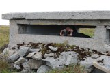 In his bunker scanning the horizon