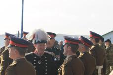 The Governor inspected troops