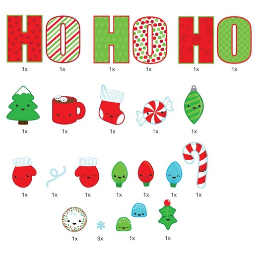 HO HO HO Christmas Wall Decals Paper Riot