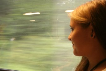 On a train to Berlin, Germany